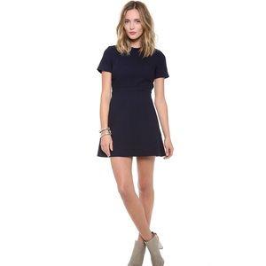 Victoria Beckham Quilted Dress Navy Size 10